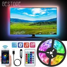 Bluetooth USB LED Strip Light 5050 SMD DC 5V USB RGB Lights flessibile LED Lamp Tape Ribbon RGB TV Desktop Diode Tape