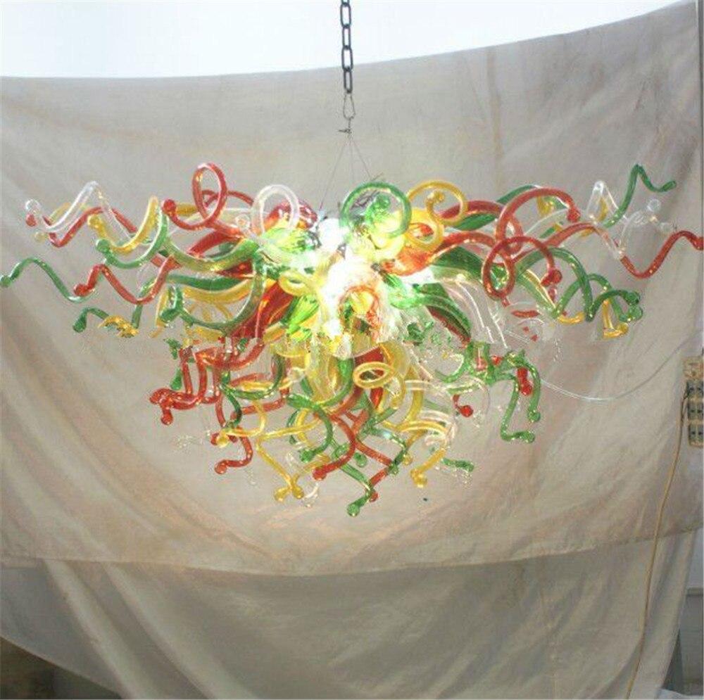 ديكورات منزلية ضوء الثريا مورانو زجاج الفن Chihuly نمط الحديثة درج قلادة