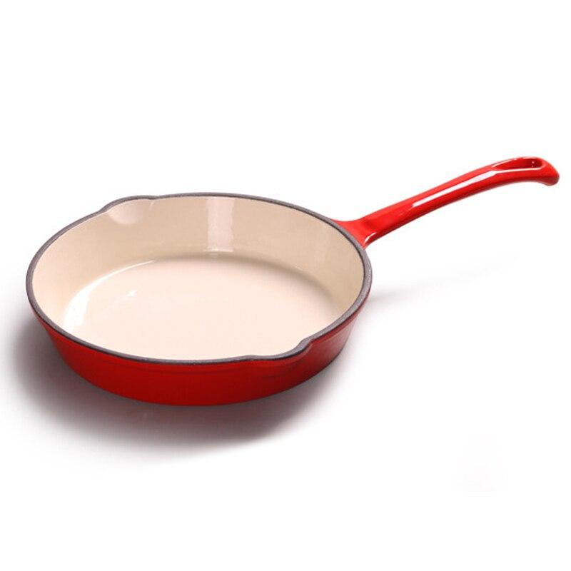 Чугунная сковорода с длинной ручкой плоским дном сковороды антипригарная