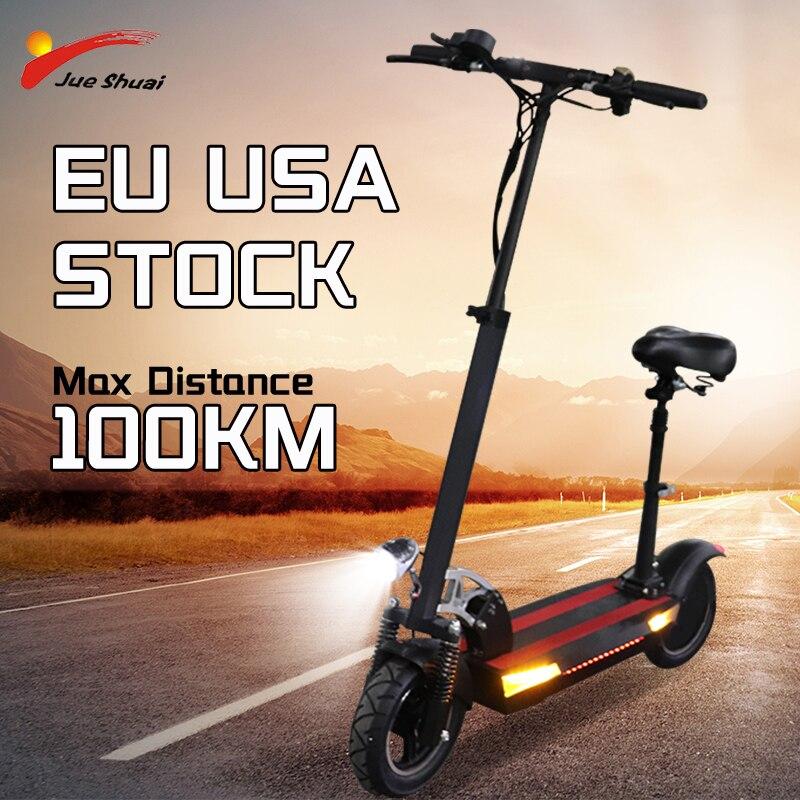 Jueshuai-patinete eléctrico plegable para adultos, Scooter de dos ruedas de 800W con...