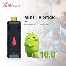 X96 S400 Mini TV Stick H313 Quad Core 2GB 16GB Smart tv box Android 10 4k Media player 1GB 8GB 2,4G Wifi Android TV Box