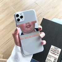 keep smiling everyday boy transparent phone case for iphone x xr xs max 11 pro max 6s 7 8 plus soft case cute cover