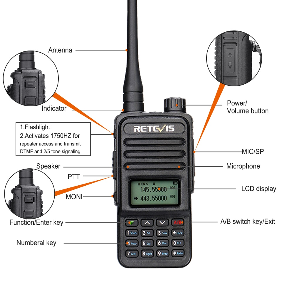 RT85 Walkie Talkie 5W VHF UHF Dual Band VFO Amateur Two-way Ham Radio Station BaoFeng UV5R Portable HT For Hunting CHIRP enlarge