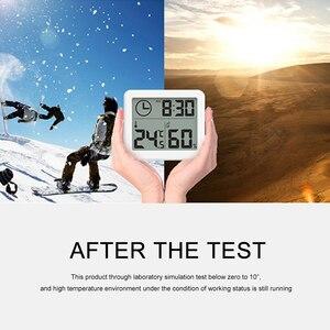 LCD Time Desktop Table Clocks Multifunction Thermometer Hygrometer Meter Digital Indoor Monitor Dry Hygrometer
