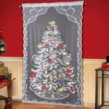 Занавески для окна двери Рождественская елка Снеговик стержень отвесные тюлевые занавески домашний декор Новое поступление 2020