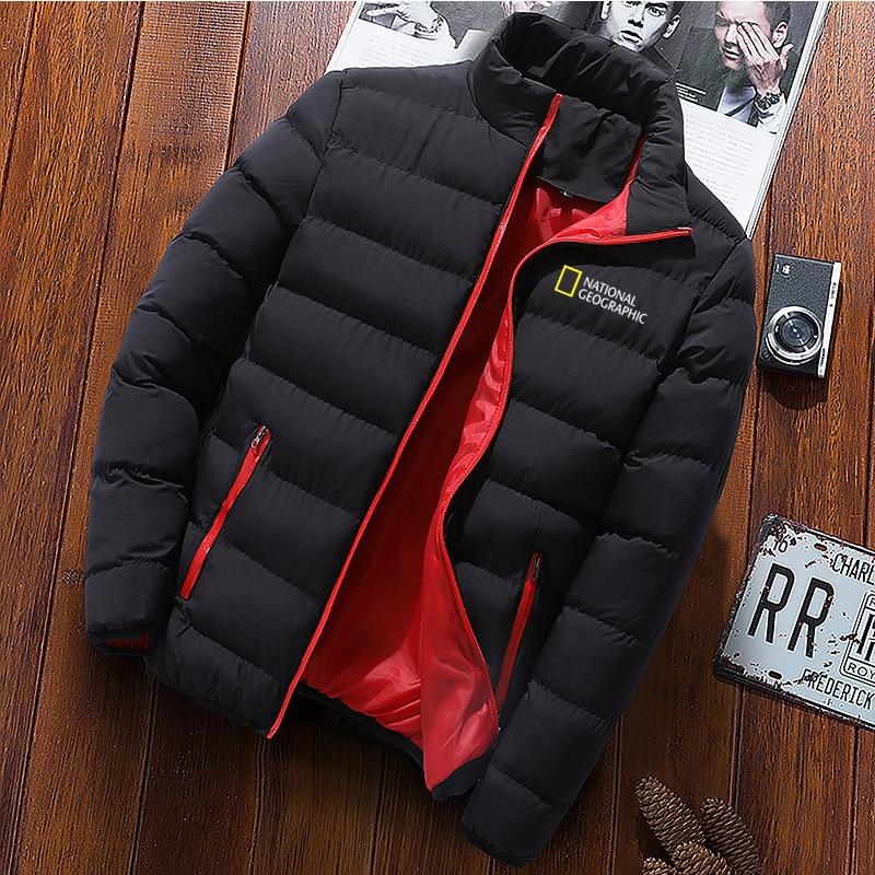 Зимняя куртка мужская модная мужская куртка Паркер с воротником-стойкой Мужская однотонная Толстая куртка мужская зимняя куртка