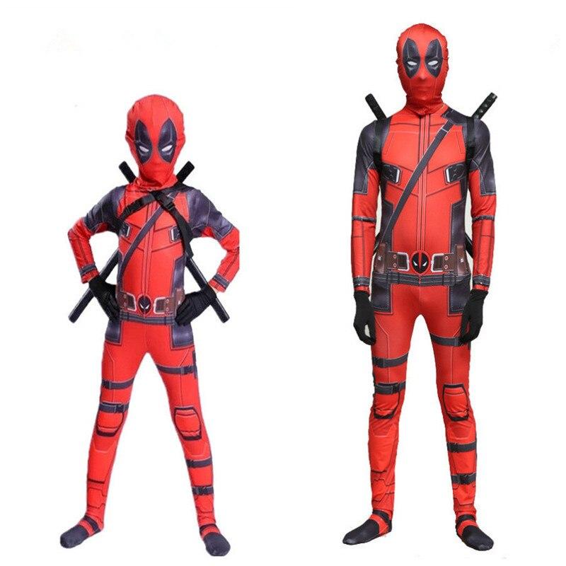 Traje de Halloween de Deadpoo Death Serve 2 medias para adultos y niños