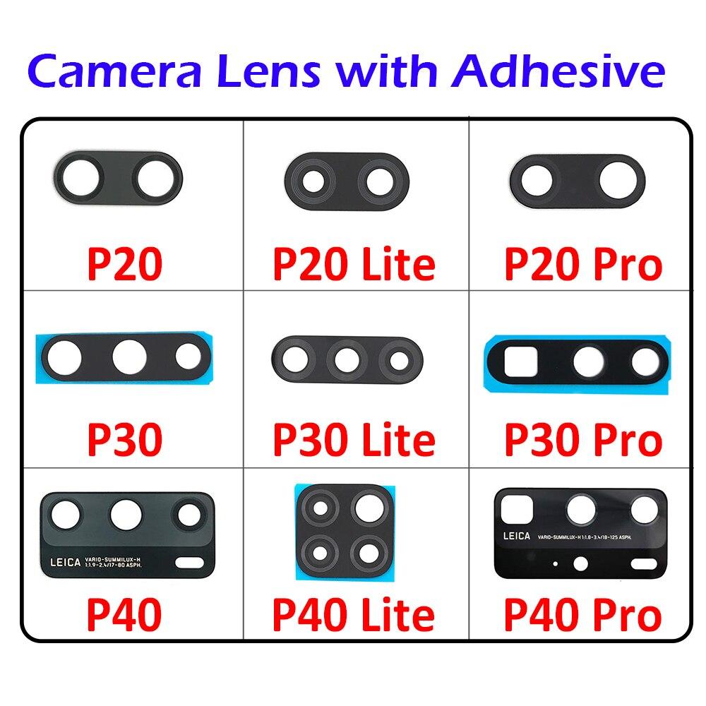 استبدال عدسة الكاميرا الخلفية الزجاجية ، 100 قطعة ، لهاتف Huawei P30 P40 Lite P20 Pro P40 Lite E / 5G