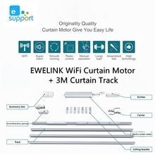 Moteur de rideau de WiFi de contrôle dapplication dewelink avec le Rail de rideau de 2.3-3.2M