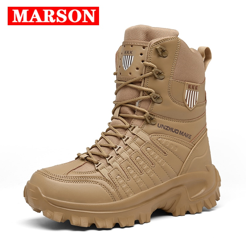 2020 New Men High Quality Brand Military Leather Boots Special Force Tactical Desert Combat Male Boots Outdoor Shoes Ankle Boots jzb high quality men military boots special force tactical desert combat ankle botas army work safety shoes leather snow boots