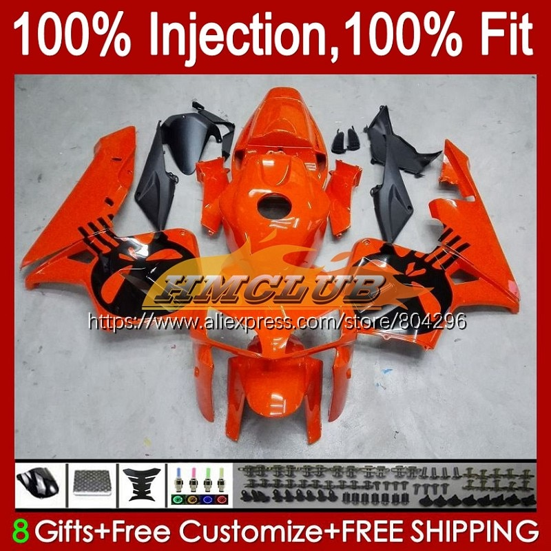 الجمجمة البرتقال حقن لهوندا CBR 600 CBR600 RR CC CBR600RR 10No.19 CBR 600RR 600F5 600CC F5 05 06 CBR600F5 2005 2006 هدية