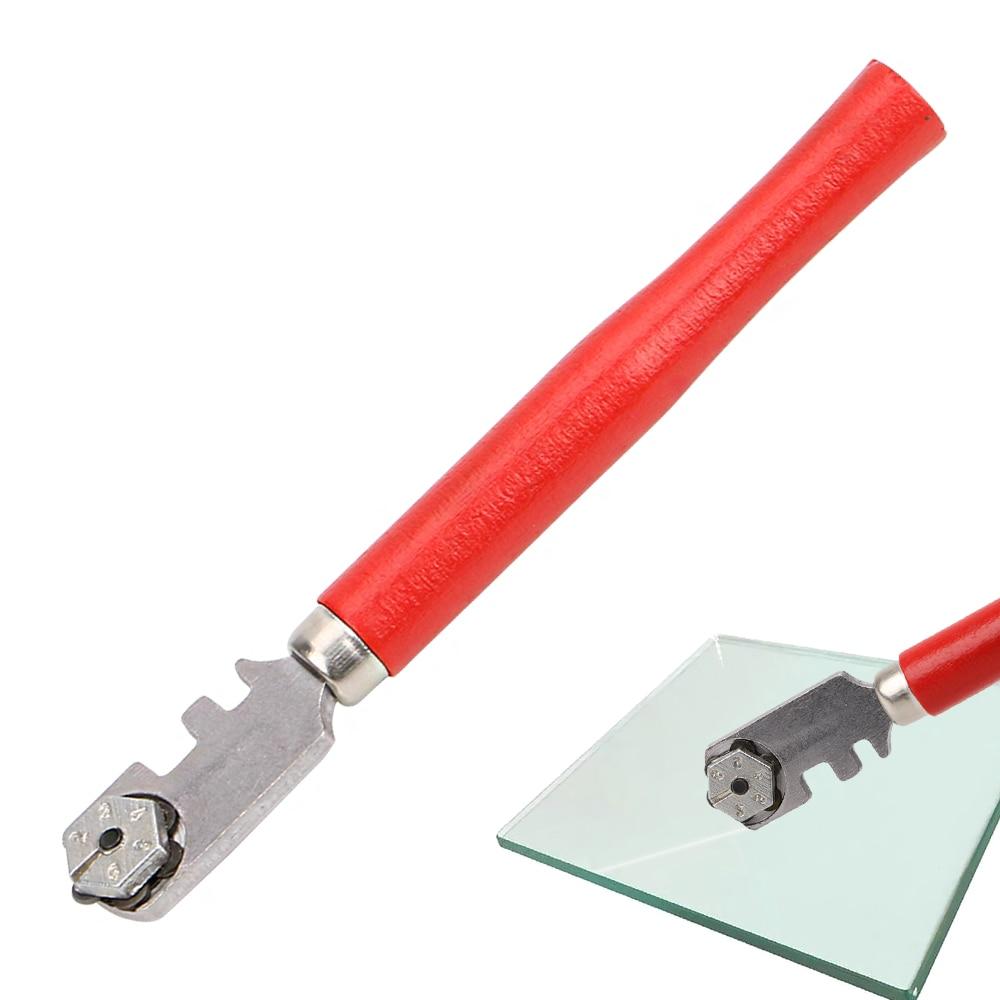 1pc window craft tagliapiastrelle professionale per vetro e piastrelle per utensile manuale 130mm utensili per coltelli in vetro con punta di diamante, tagliavetro portatile