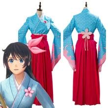 Projectsakura guerre Amamiya sakura Cosplay Costume femmes Kimono tenues