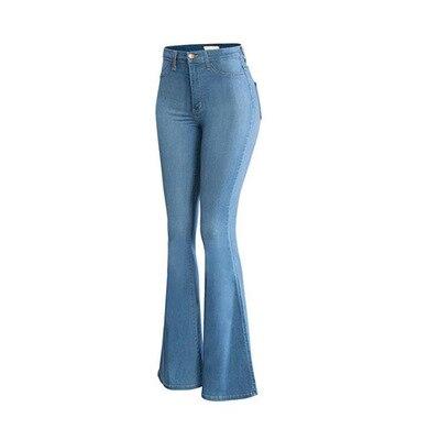 Женские джинсы с высокой талией, расклешенные тонкие брюки, в весеннем стиле, Стрейчевые свободные, прямые микро-Брюки-трубы, женские джинсы...