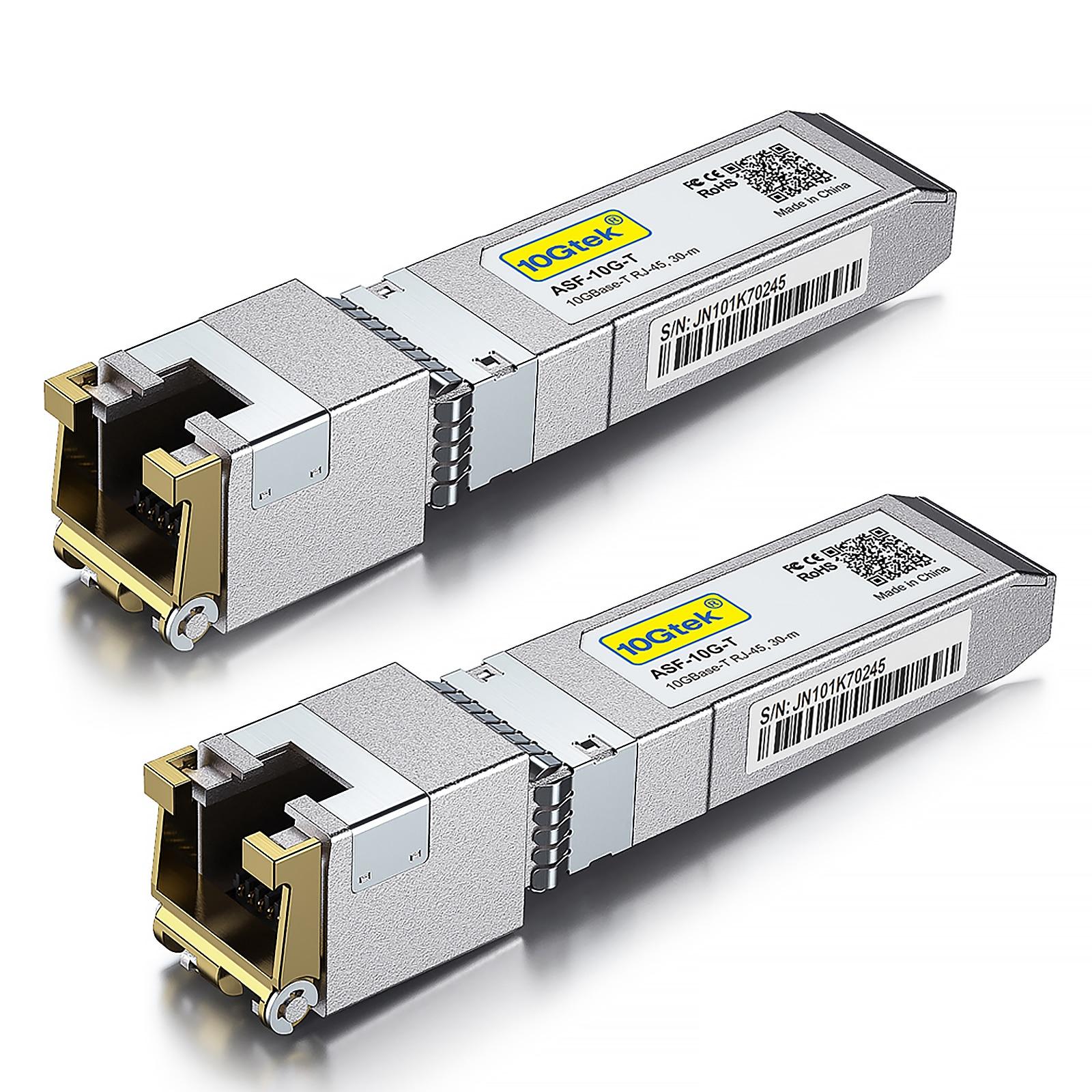 10GBASE-T 10G SFP + إلى RJ45 النحاس الإرسال والاستقبال وحدة سيسكو SFP-10G-T-S حزمة من 2