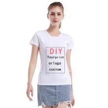 Customized Print T Shirt for WOMAN DIY Your like Photo or Logo White Top Tees Tshirt Men Size XS-6XL Modal Heat Transfer Process