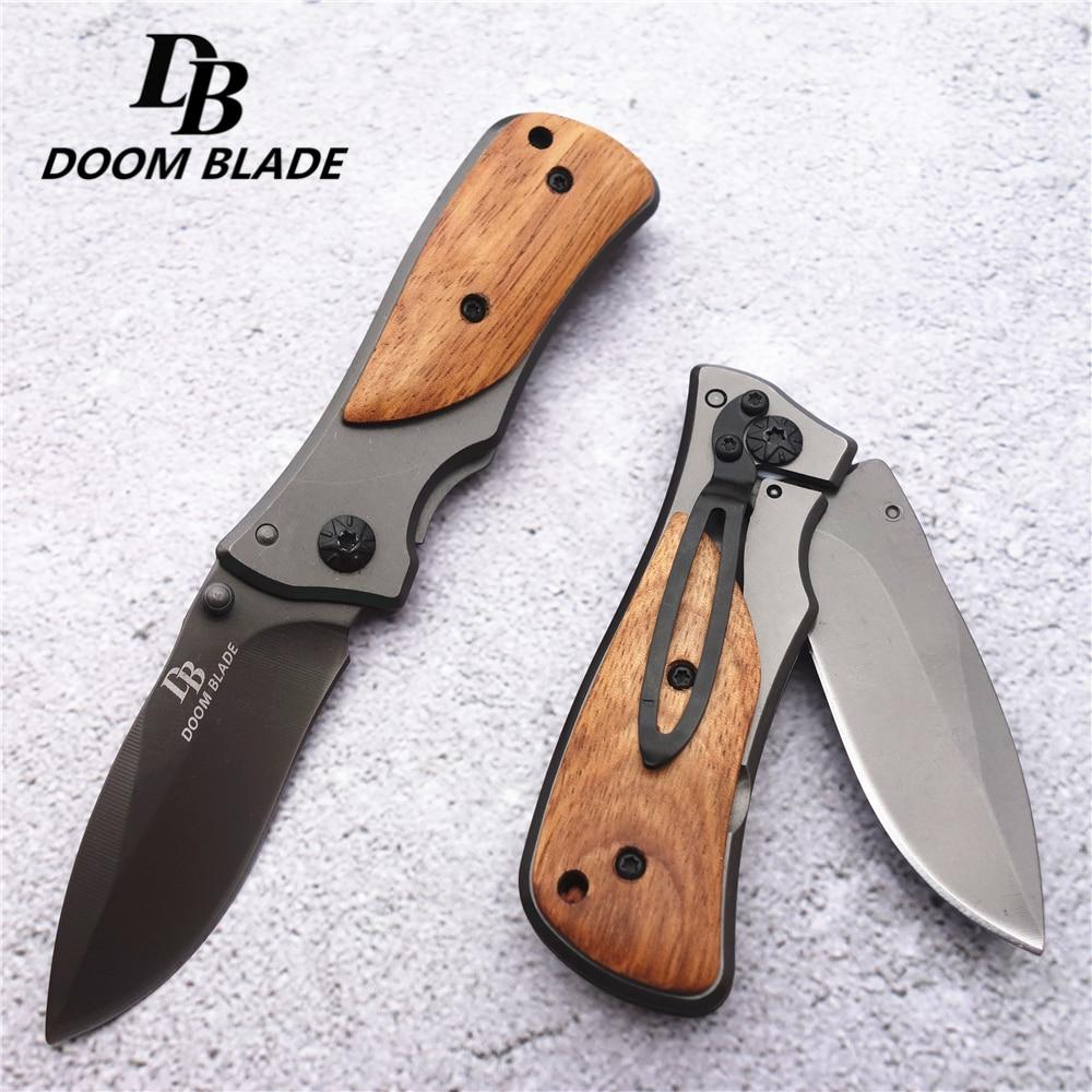 57HRC складной нож среднего размера Карманный Компактный Тактический походный охотничий нож для выживания и спасения с коробкой