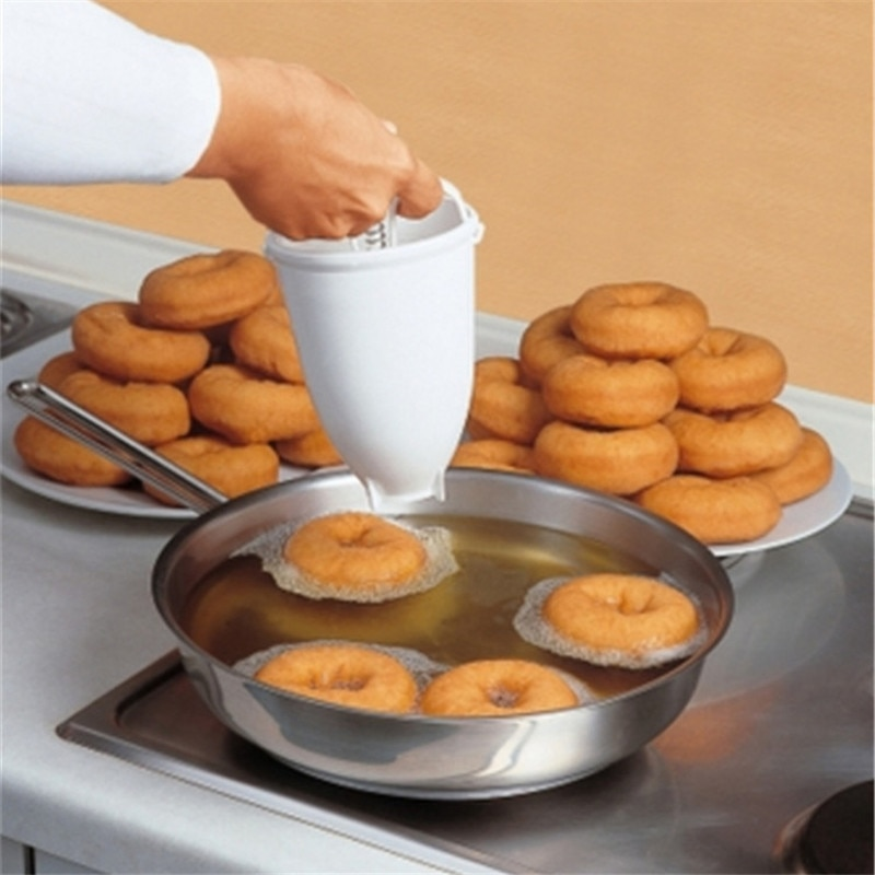 KitchenAce Plastic Donut Doughnut Maker Device Mold Kitchen DIY Pastry Baking Dispenser Gadgets & Tools Portable Bakeware Gadget