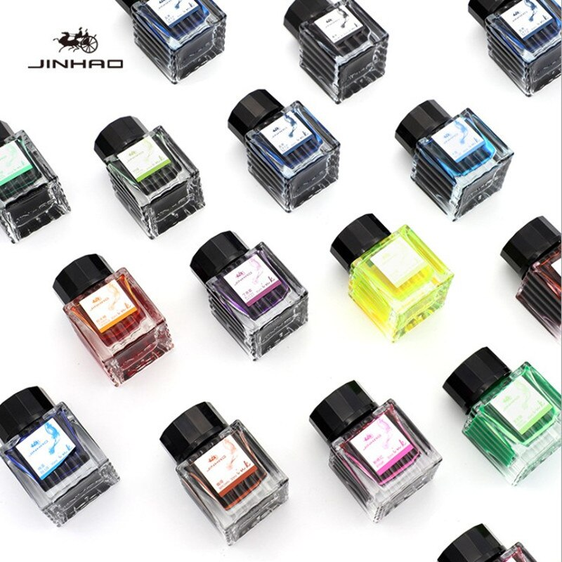 High quality Jinhao 30ml Various colors Glass bottled ink fountain Pen Ink refill cartridge school office supplies