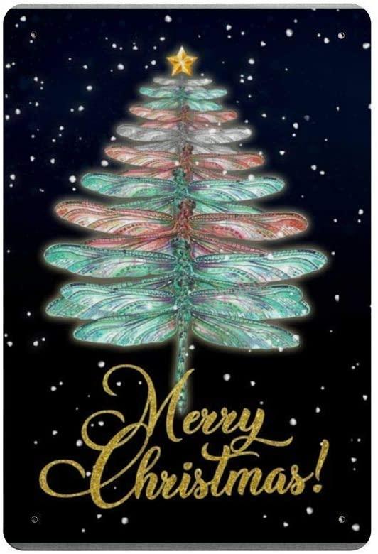 Feliz Navidad Retro-Placa de plástico de Metal para decoración de pared, cartel...