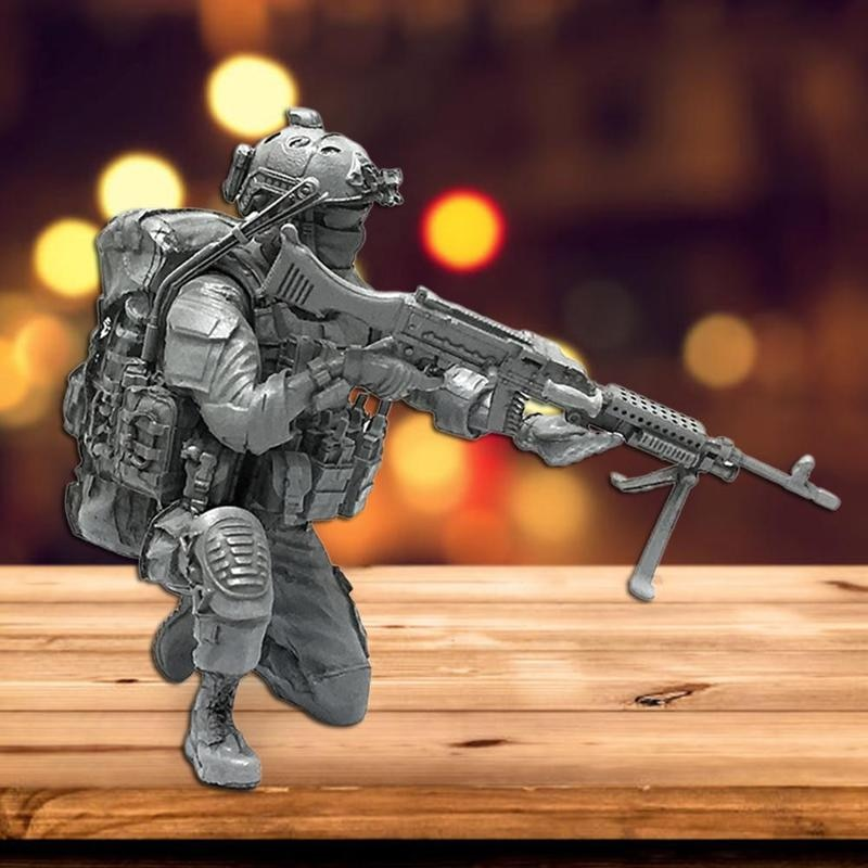 YUFAN 1/35 Modern American Special Forces D Resin Soldier 5 cm Static Epoxy Resin Model Toy AH-04 Figure Model Kits Unmounted