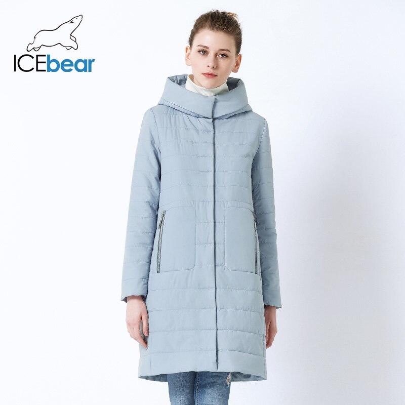 ICEbear 2019 nuevo abrigo de otoño para mujeres, Chaqueta de algodón con capucha para mujeres, chaqueta de alta calidad de marca femenina con capucha GWC19038I