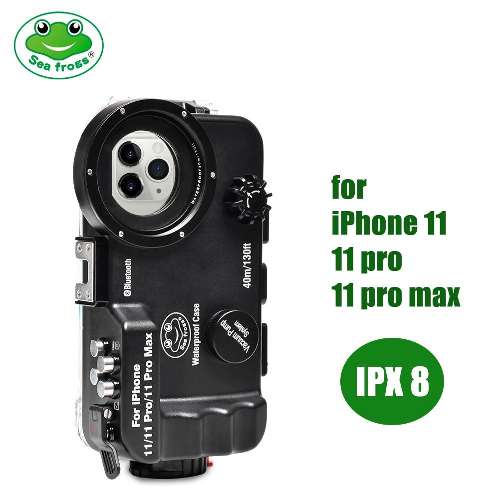 Marine rogs-جراب هاتف مقاوم للماء ، جراب واقٍ لهاتف iPhone 11/11pro/11 pro max 40M ، غطاء هاتف احترافي للسباحة تحت الماء