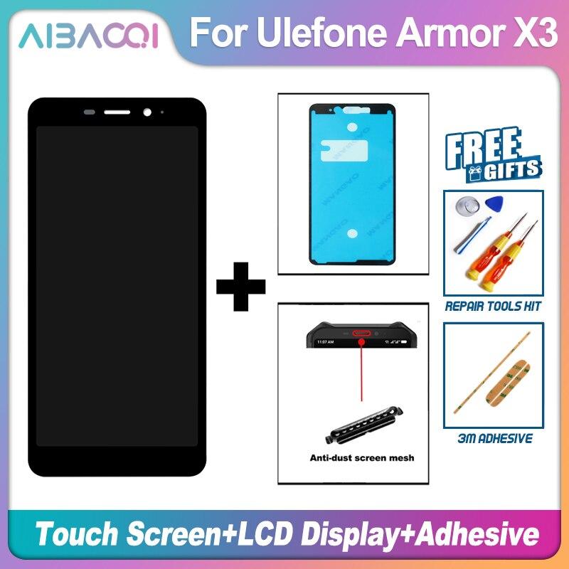 Nueva pantalla táctil Original de 5,5 pulgadas + reemplazo de montaje para pantalla LCD de 1440x720 para teléfono Android 9,0 Ulefone Armor X3/Armor X5