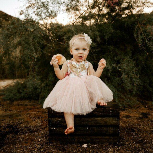 Baby Girls Cake Smash Outfit 1st First Birthday Set Tutu Dress