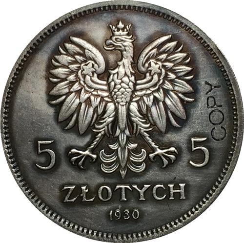 1930 5 Zlotych Польша копия монет