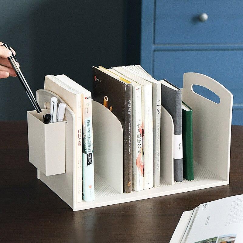 Armazenamento de Escritório Suporte de Mesa para Livros Estante Simples Moda Arte Ferro Criativo Metal Organizador Escritório Fornecimento