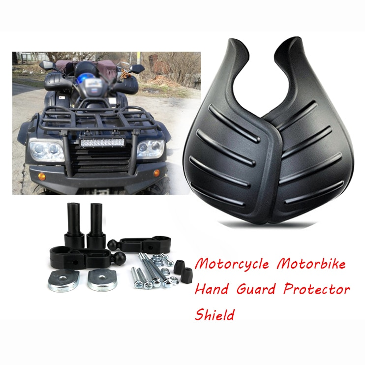 1 Pair Wind Deflector Handguard Motorcycle Motorbike Hand Guard Protector Shield 29x20x11.5cm Black Polypropylene