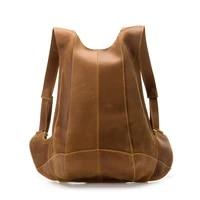 genuine leather backpack women business messenger bag female shoulder casual bagpack for ipad large travel crazy horse hand bag