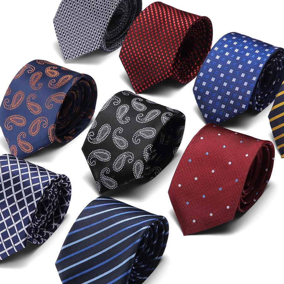 Classic 7.5cm Tie for Men 100% Silk Tie Luxury Striped Slim Ties for Men Suit Cravat Wedding Party Necktie недорого