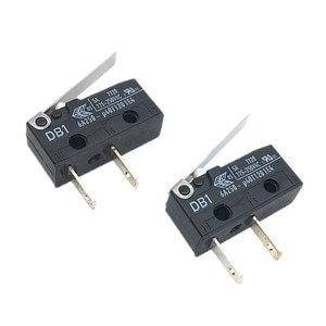 5pcs Micro Switch DB1 Limited Switch 6A 250V with Straight Handle Constant Length 2Pin