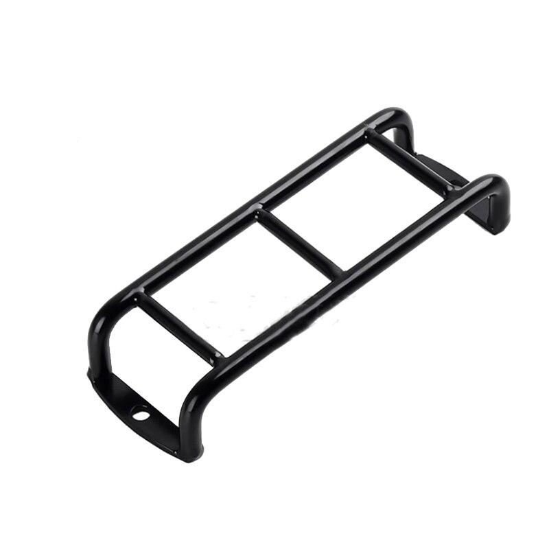 Metal preto escada reta escadas corrimão escadas para 1/10 rc rastreador carro trx4 axial scx10 90046 rc 4wd acessório