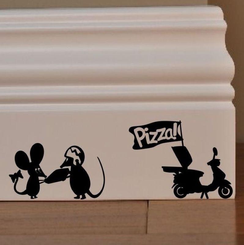 Express Pizza Sticker Restaurant Decal Poster Vinyl Art Wall Decals Decor Mural Pizza Sticker Wall Decal Pizza Glass Decal