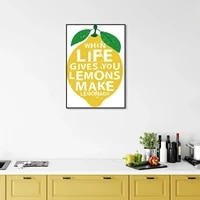 lemon canvas art print painting wall pictures nordic poster lemon fruit pictures home room wall decoration for kitchen baby room