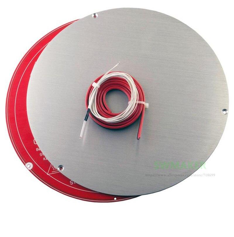 لوحة بناء من الألومنيوم المؤكسد ، 220 مللي متر ، MK2Y ، PCB ، سرير ساخن ، مجموعة الثرمستور للطابعة ثلاثية الأبعاد ، delta kossel