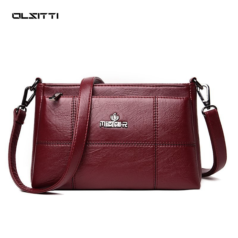OLSITTI High Quality Pu Leathe Shoulder Bags for Women 2021 Fashion Female Solid Color Crossbody Bag