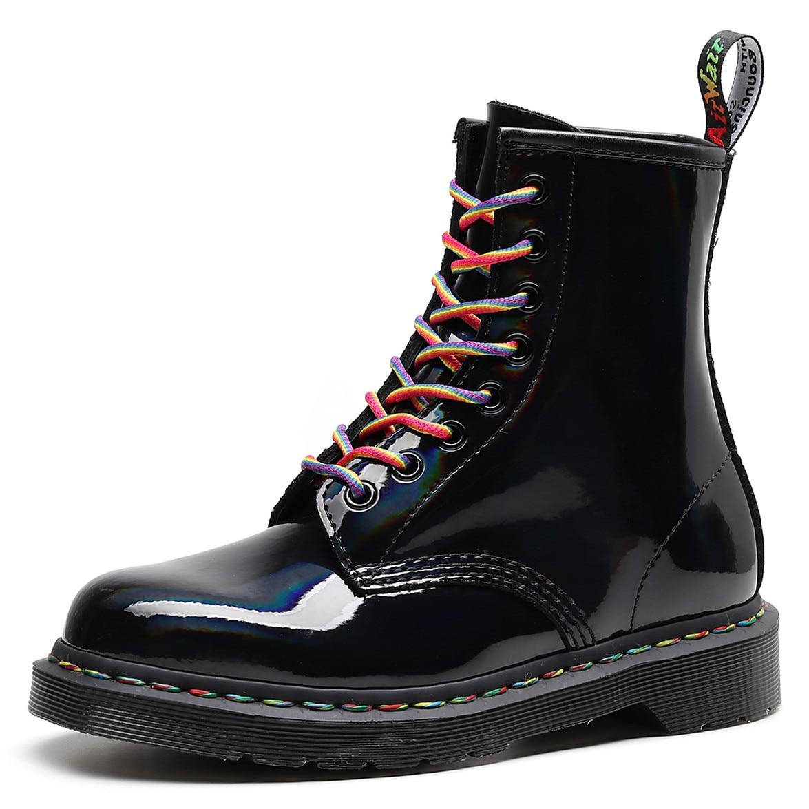 Martens Boots 8-hole Soft Leather Shiny leather Martin Boots Women Boots Men Women Ankle Boots