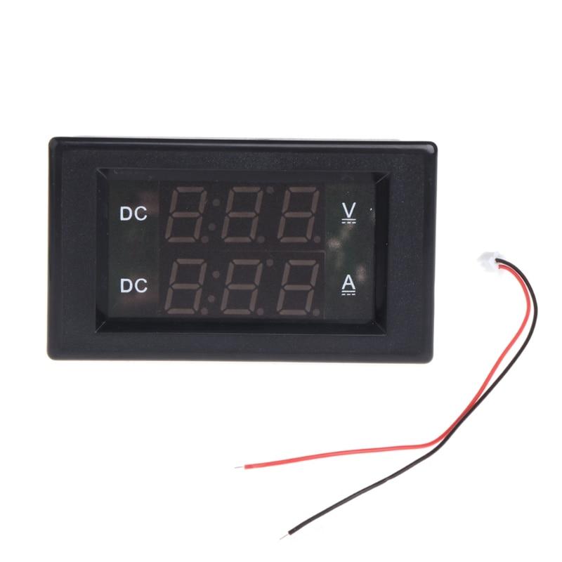 CC 100V 20A voltímetro Digital Dual voltímetro voltios amperios medidor rojo + verde LED A6HE