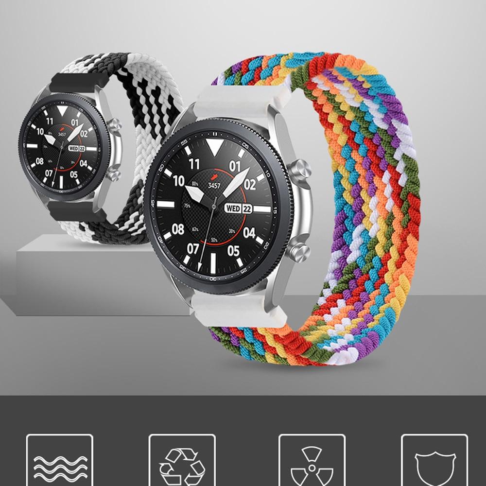 Braided Solo Loop For Samsung Galaxy watch 3 strap 46mm/42mm/active 2/Gear S3 bracelet Huawei watch GT/2/2e 20mm/22mm watch Band недорого