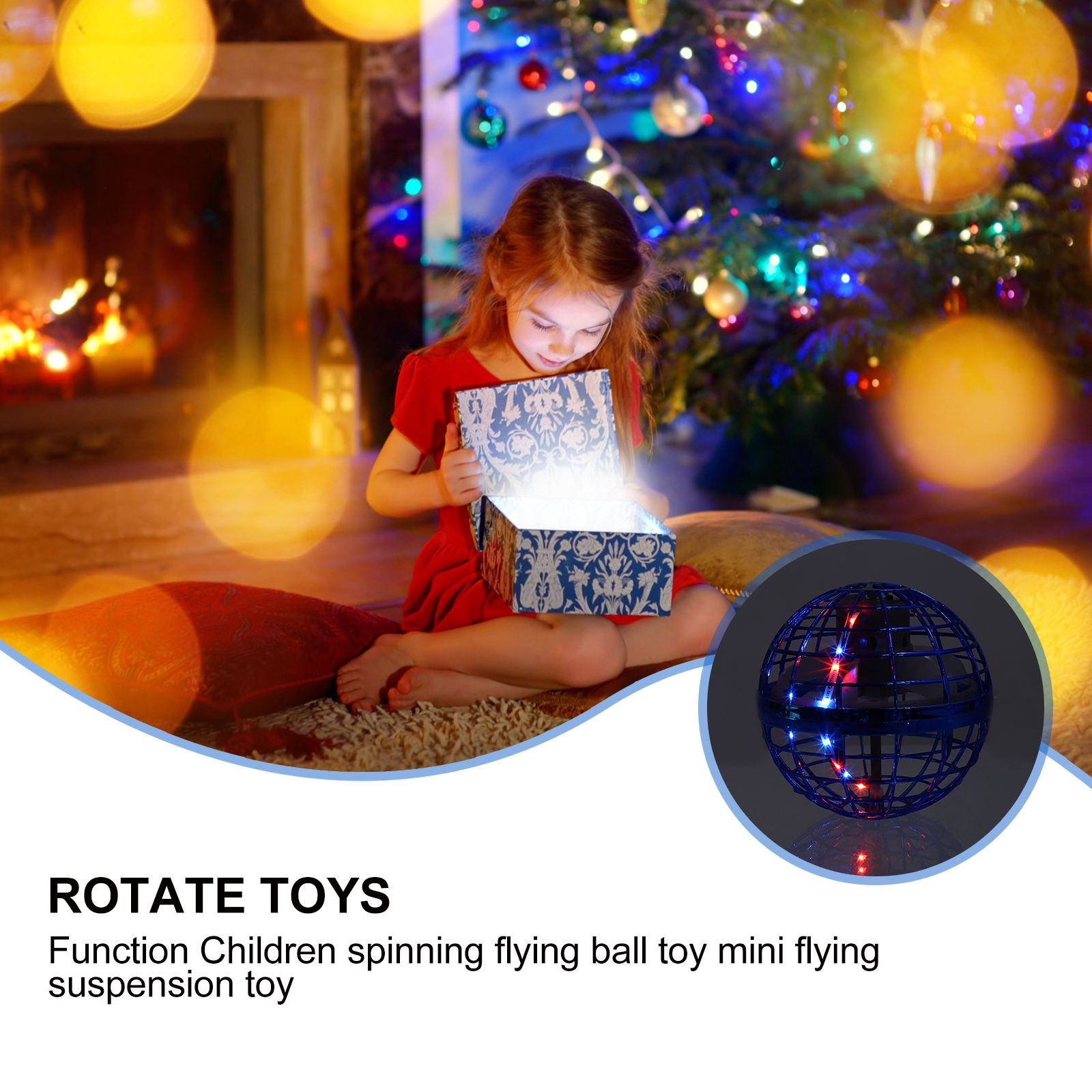 Flying boomerang Ball Spinner Toy Hand Controlled Drone Helicopter 360° Rotating Mini UFO With RGB Light Kids Boys Girls Gift enlarge