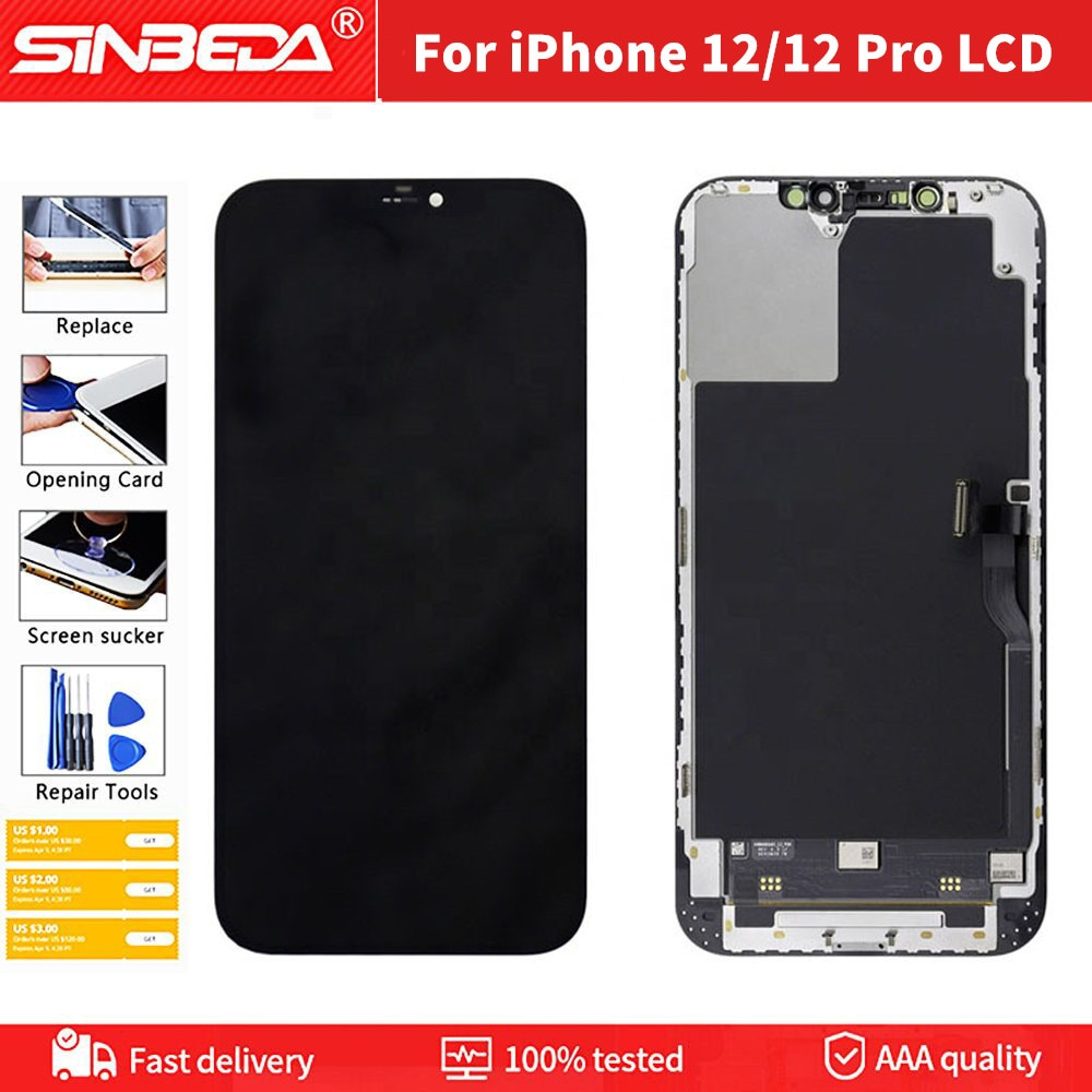 Promo JK Quality mobile iPhone LCD For iPhone 12 LCD display for iphone 12 iPhone 12 pro lcd display screen replacement