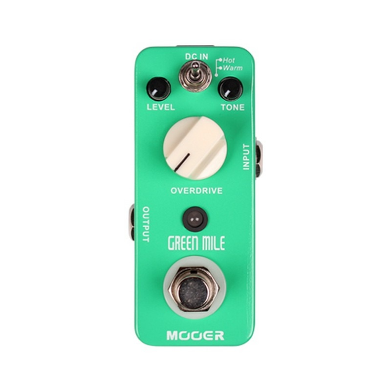Mooer verde mile overdrive pedal micro pedal de guitarra elétrica true bypass mini overdrive efeito guitarra pedais peças acessórios