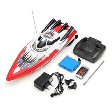30km/h RC Boat Toy High Speed Racing Rechargeable Batteries For Children Boat Colors Control Remote