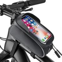 annxin high quality mountain bike fashion portable outdoor riding bag bicycle rainproof waterproof shockproof mobile phone bag