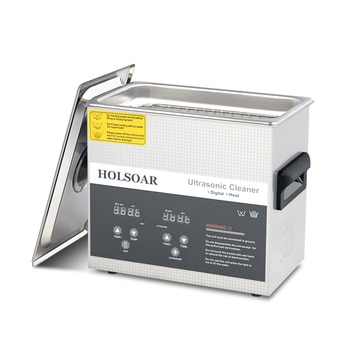 Ultrasonic Cleaner 3L 120W Ultrason Bath with Heater Timer and Basket for Cleaning Jewelry Brass Sonic Cleaner