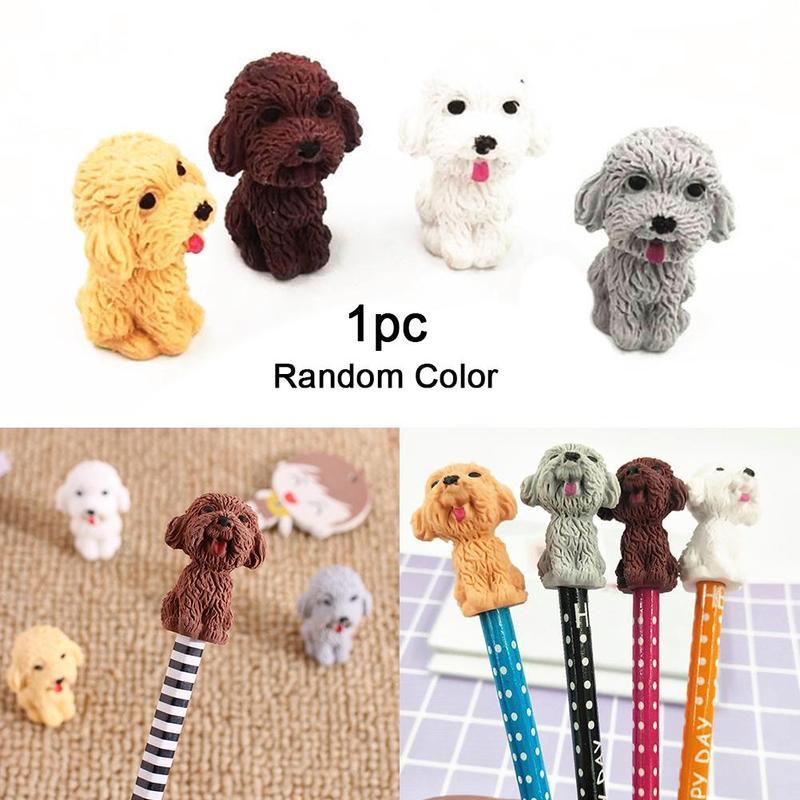 Creative Cartoon Rubber Dog Eraser Kawaii Stationery Non-toxic Pencil Rubber Eraser Student Kids Gifts School Office Supplies